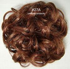 """3"""" Scrunchie #27A Light Auburn Hair Ponytail Holder Wig America Hairpiece Cheer"""