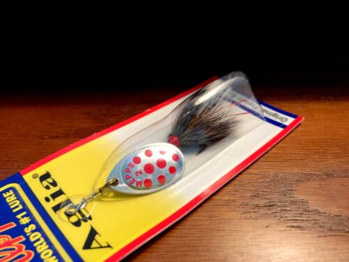 #B2ST SRD-G Mepps Silver with Red Dots 1//6 oz Aglia Spinner Fishing Lure