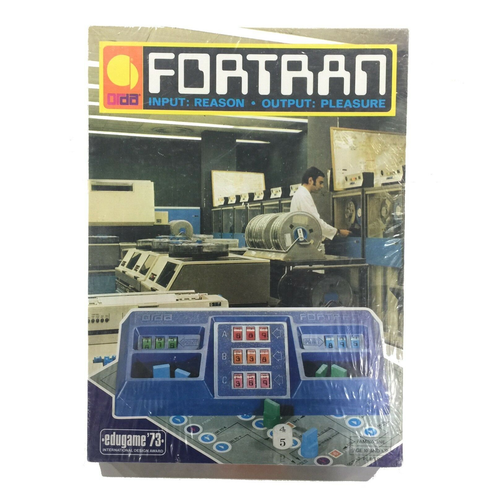 SEALED Fortran Computer Board Game VTG 1973 Orda Program Code Edugame Israel