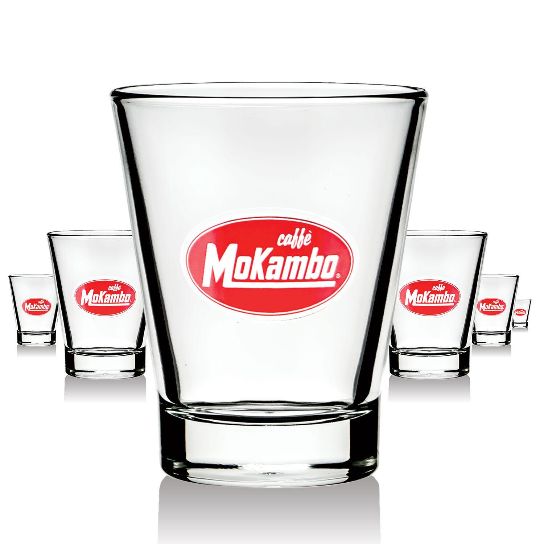 6 x vidrio Mokambo vasos espresso raramente Design kw, bar decorativas nuevo