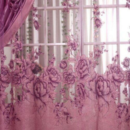 250 100cm Pfingstrose Perlen Voilevorhang Wohnzimmerfenster Tüll Vorhang