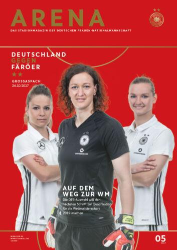 WM-Qualifikation 24.10.2017 Deutschland Färöer DFB-Arena 5//2017
