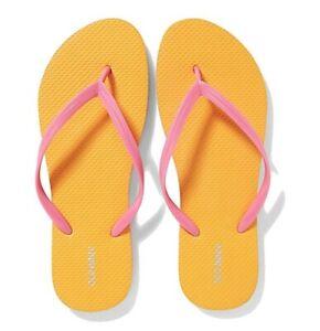 Old Navy Pink Yellow Women Flip Flops