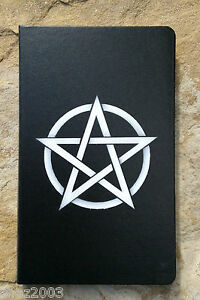 Black-Journal-or-Book-of-Shadows-with-Pentagram-Altar-Spells-Wicca-Pagan