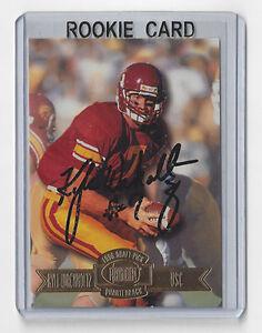 1996-PACKERS-Kyle-Wachholtz-signed-ROOKIE-card-Press-Pass-75-RC-Autograph-USC