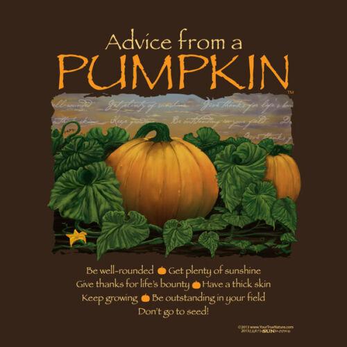Pumpkin T-shirt S M  XL 2XL NWT NEW Cotton Advice From a Thanksgiving Fall Brown