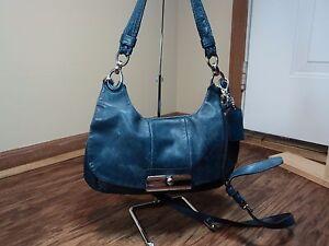 schoudertashand Bagzie Coach16931 Leather Carry Teal Dark Kristen opmerkingen hQdsrtxC