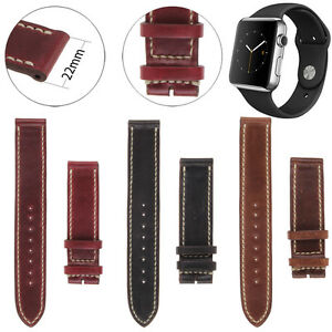 For Apple Watch Series 1 iWatch 42mm Genuine Real Leather Band Strap Belt