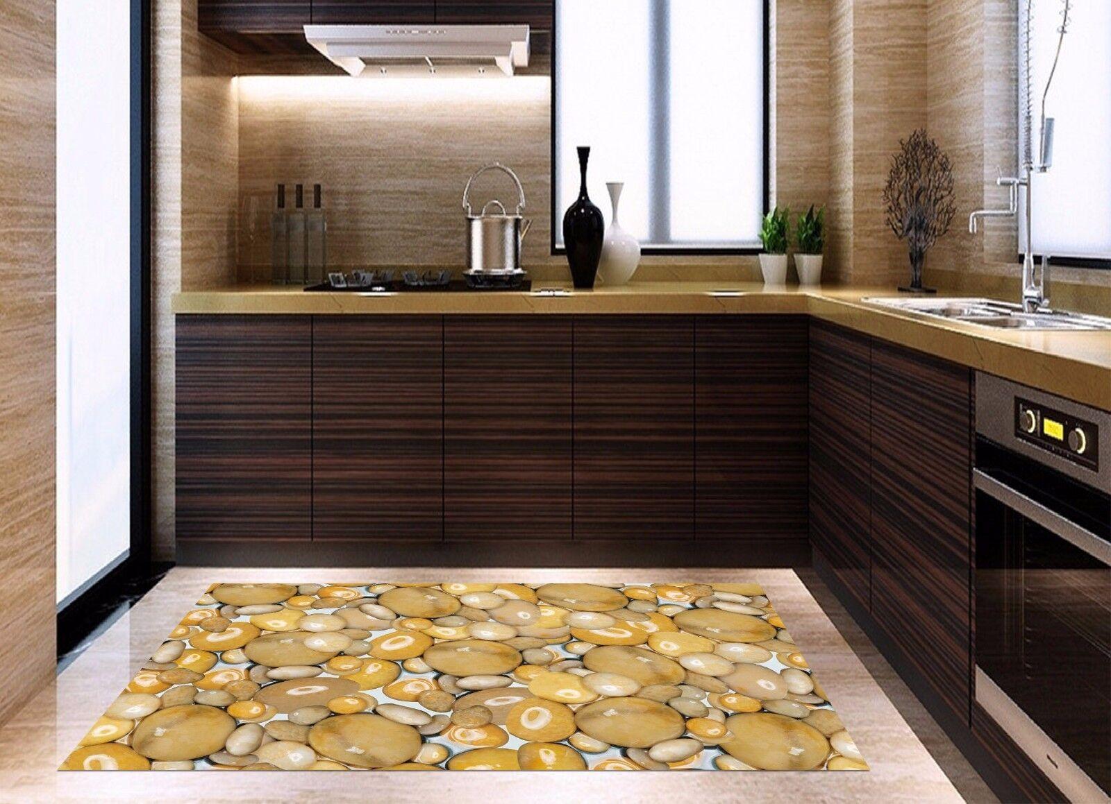 3D Oval Stone 74 Kitchen Mat Floor Murals Wall Print Wall AJ WALLPAPER AU Carly