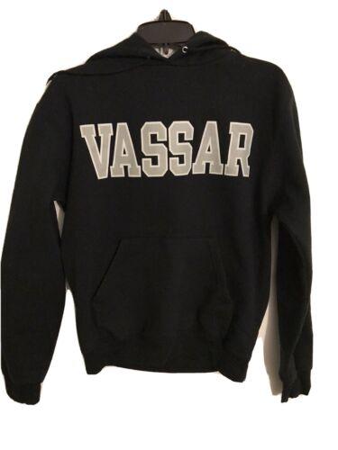 Vassar College Hooded Black Champion Sweatshirt si