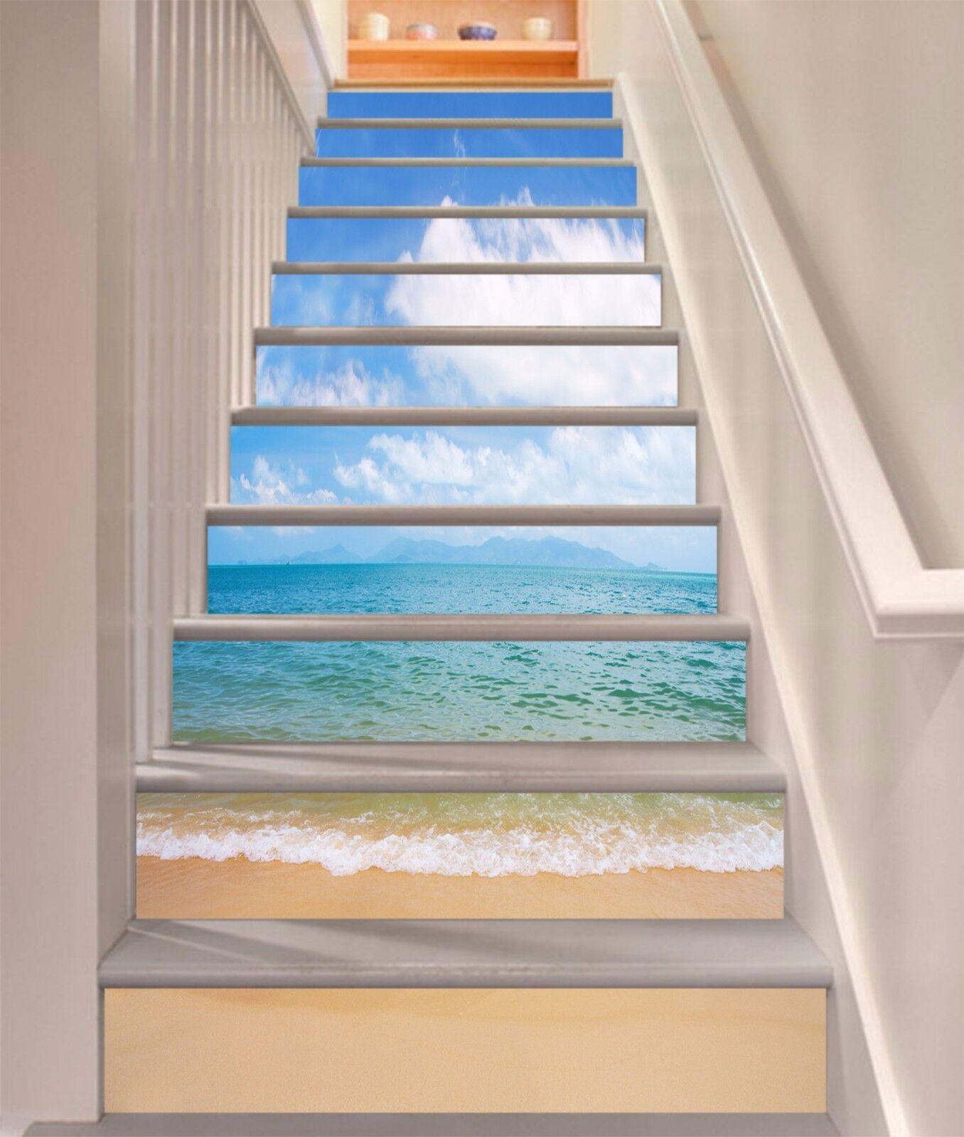3D Seawater Beach 363 Risers Decoration Photo Mural Vinyl Decal Wallpaper CA