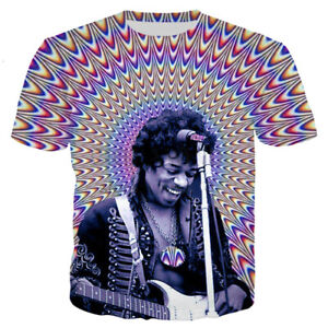Giddy Psychedelic Colorful Print 3D T-Shirt Shirt Short Sleeve Women Men Tee Top