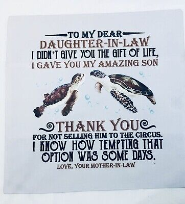 Nwot Inspirational Quote Square Pillow Cushion Case Cover Daughter In Law Ebay