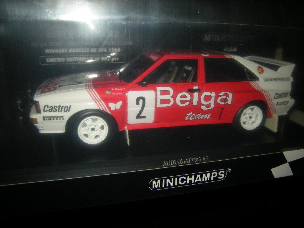1 18 Minichamps  Audi quattro a2 Belga équipe Limited edition 1 of 402 PC dans neuf dans sa boîte  en stock