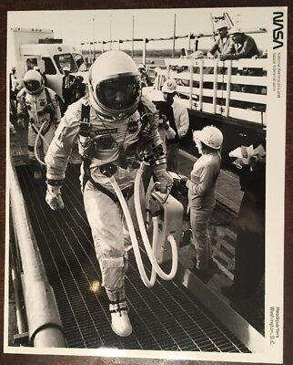Nasa Gemini Vi Wally Schirra Tom Stafford 6 1965 8x10 B&w Photo 65-h-1987 Purple