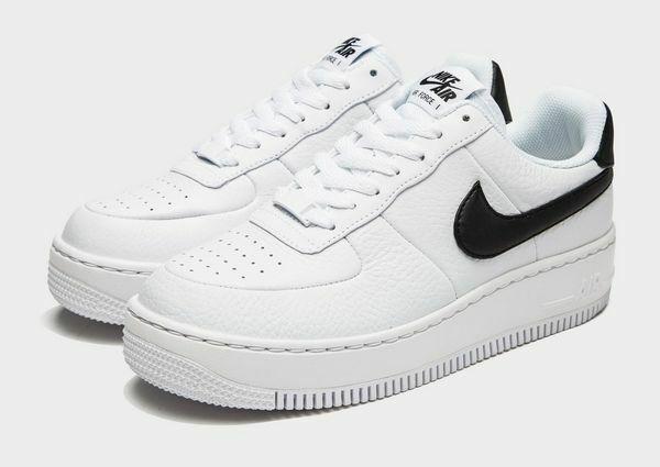 Da Donna Nike Air Force 1 upstep Taglia 6.5 EUR 40.5 (AV8222 100) bianco nero