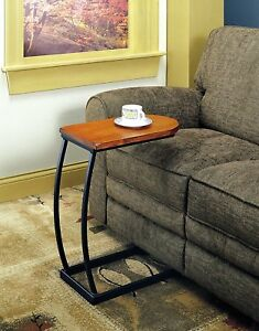 Image Is Loading Snack Tables For Living Room Wooden Metal End