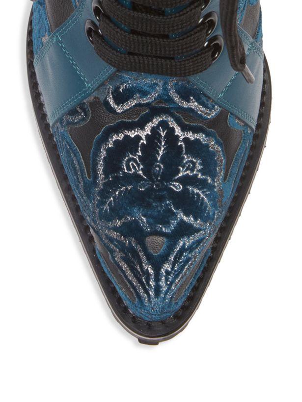 Chloé Chloé Chloé Laserot Velvet Leather Stiefelies Größe 38 MSRP   1,760 024ebd
