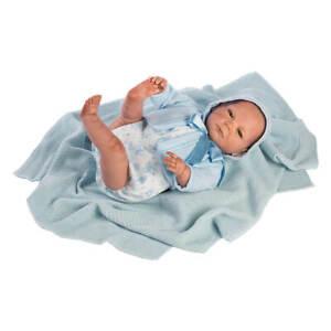 Berbesa - Bébé réaliste né de nouveau-né, barboteuse bleue 50 cm (5305)