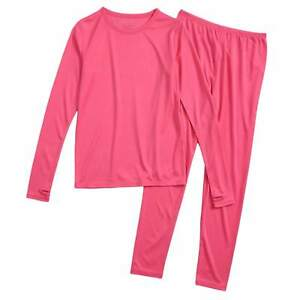 574409e29502 Image is loading Cuddl-Duds-Girl-Pink-Chill-Chaser-Thermal-Underwear-