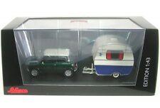 Mini Cooper mit Wohnwagen (Knaus Schwalbennest) Caravan