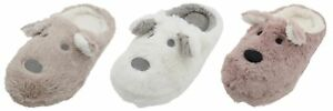 Slumberzzz-Ladies-Soft-Plush-Dog-Mule-Slipper