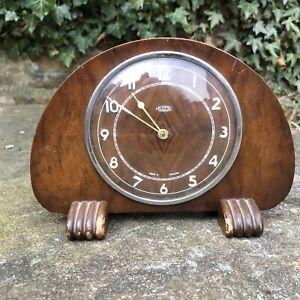 Vintage Metamec Dereham English Mechanical wind working Art Deco Mantle Clock