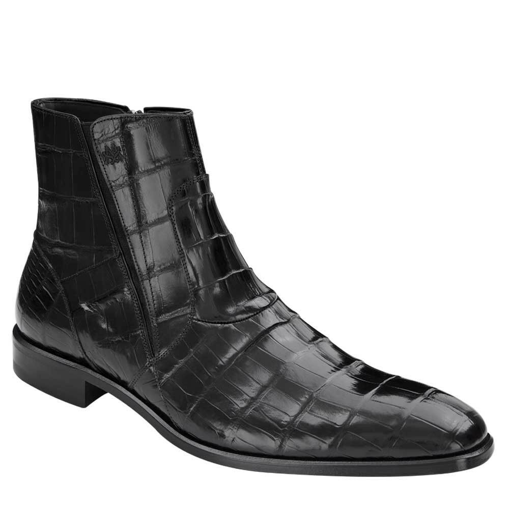 NEW Mezlan Mezlan Mezlan Genuine Alligator Calfskin Leather Dress Boots Belucci shoes Black 59de08