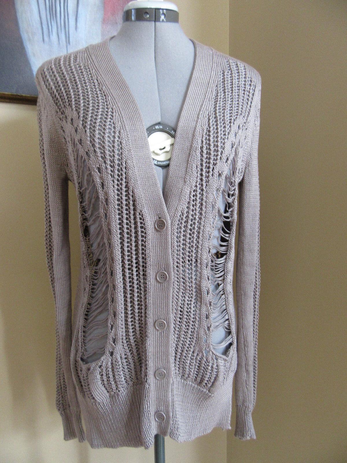 NWT BCBG KIRIL Moss color Cotton Cardigan Sweater Size XS