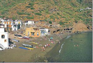 CARTOLINA-SICILIA-SICILY-POSTCARD-ISOLE-EOLIE-SPIAGGIA-DI-RINELLA-SALINA