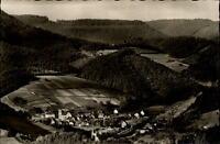 Schenkenzell Schwarzwald Postkarte ~1950/60 Gesamtansicht mit der Schenkenburg