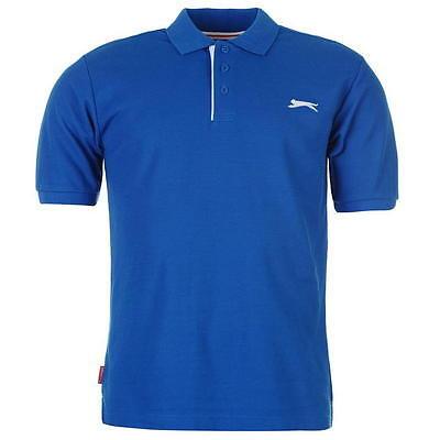 ✔ SLAZENGER Herren Poloshirt S M L XL XXL 3XL 4XL TShirt Polo Shirt Royalblau