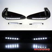 "LED Signal Light Dual Road 7/8"" 22mm Brush Bar Handguard Hand Guard Motorcycle"