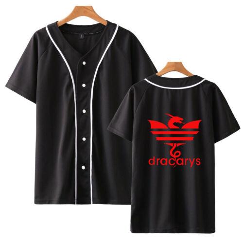 YZG dracarys Dragon Baseball Jersey Team T-Shirts Uniform Sports Raglan Hipster