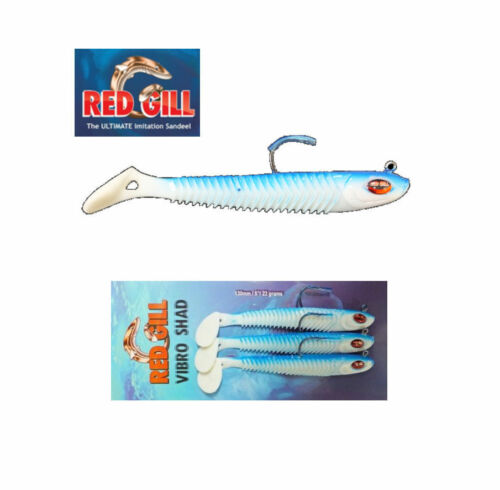 Red Gill Vibro Shad 130mm 3 Lures Per Pack Red Gill VibroShad - 22g 5 inch