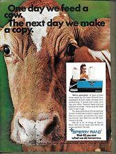 1970 VINTAGE SPERRY RAND COPIER PRINT AD