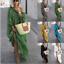 thumbnail 1 - Womens Oversize Long Sleeves Sloping Off Shoulder Loose Maxi Dress Fashion Plus