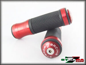 Strada-7-CNC-Rojo-empunadura-y-tope-TAPAS-Conjunto-KAWASAKI-ZX1400-ZX14R-ZZR1400