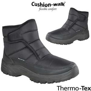 0b537a9dc28 Details about Mens Cushion Walk Snow Winter Grip Sole Ankle Boots Warm  Lined Thermal Shoes Sz
