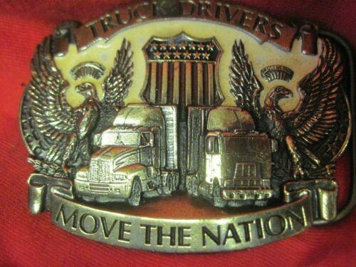 Belt buckle with truck drivers move the nation decor vintage vrachtwagen chauffeur riemgesp