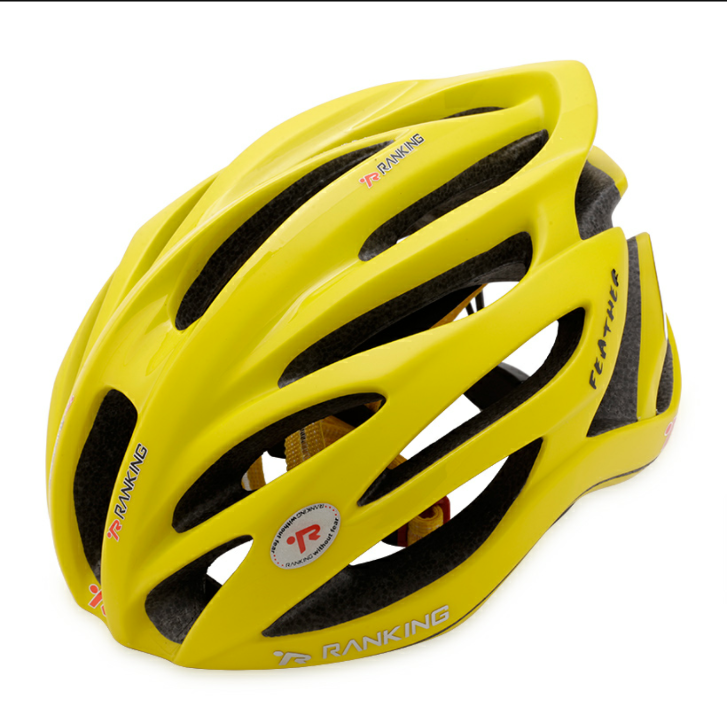 CASCO HELEMT RANKING FEATHER GIALLO LUCIDO OMAGGIO HELMET COVER