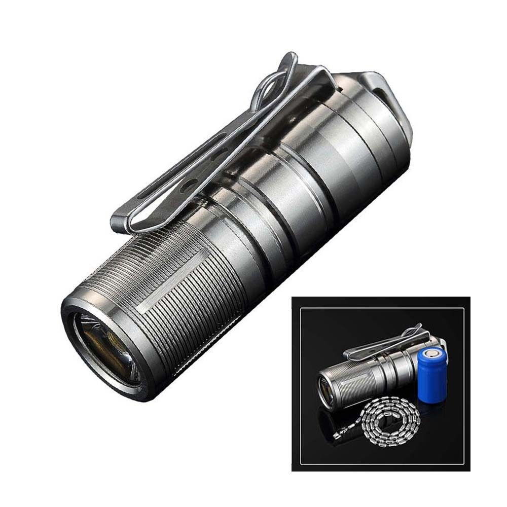 JetBeam Mini-1 Titanium 130LM Keychain USB Rechargeable Flashlight With Battery