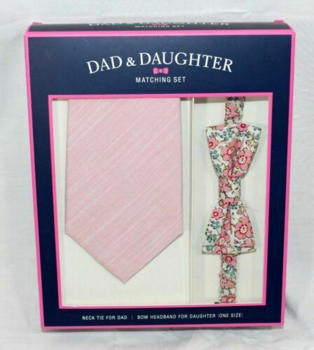 5 styles Dad and Daughter Matching Headband and Bow Tie//Neck Tie Set