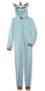 Unicorn Rainbow Womens Plus Size XL//1X  One Piece Pajamas Union Suit