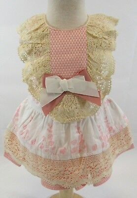 Baby Spanish Portuguese Romany Girls Pants Dress Frill Pink White Bow 3-24 M 78