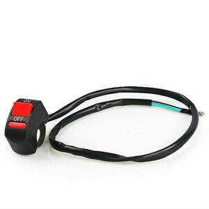Commutateur-Universal-Moto-Guidon-Lumiere-ON-OFF-Bouton-12V-10A-coupe-circuit