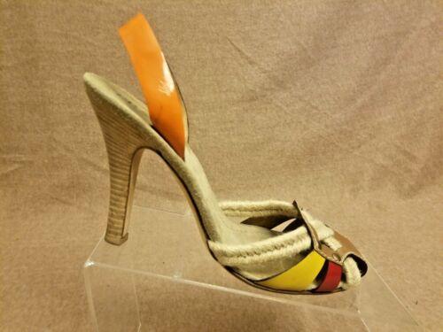 Talons Taille 5 39 Hauts Cuir Marron Femme Orange Chaussures En Sandale Prada Corde À QdChtsrx