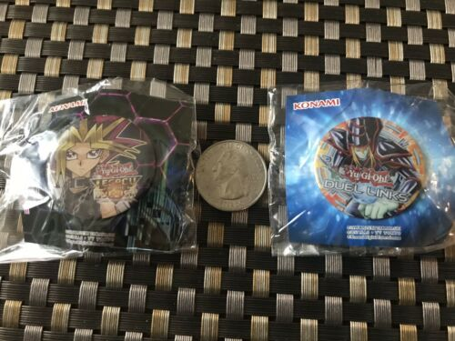 SDCC 2019 Exclusive Yu-Gi-Oh Pin Button San Diego Comic Con Set Of Two 2