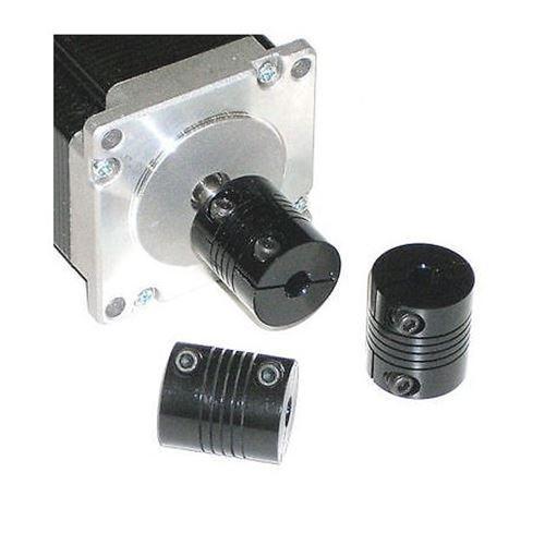 "1//4 x 1//4 flex SHAFT COUPLING CNC .25/"" Servo Stepper motor 6.35mm coupler black"