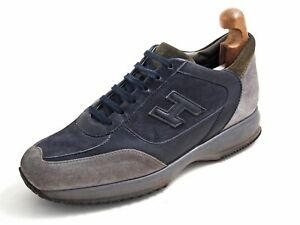 Hogan Sneakers Trainers Gray Blue Suede Mens Size US 9.5 EU 42.5 ...